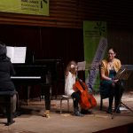 Violoncello on stage