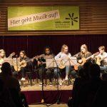 Gitarre, Zither & Blockflöte on stage