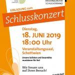 Einladung zum Schottwiener Schlusskonzert 2019
