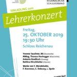 Einladung zum Lehrerkonzert 2019